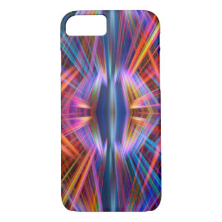 Colourful light beams pattern iPhone 7 case