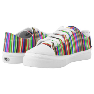 colourful line pattern Low-Top sneakers