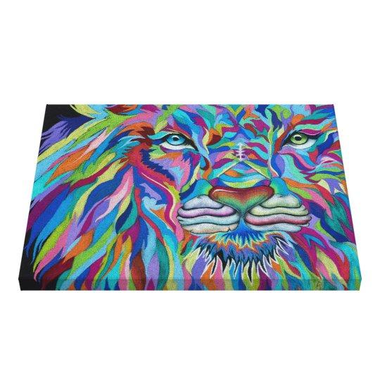 Colourful Lion Canvas Print