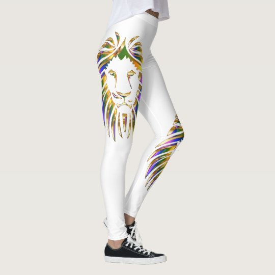 Colourful Lion Leo On Any Colour Leggings