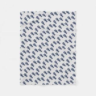 Colourful Lobster Print Coastal Crustacean Blanket