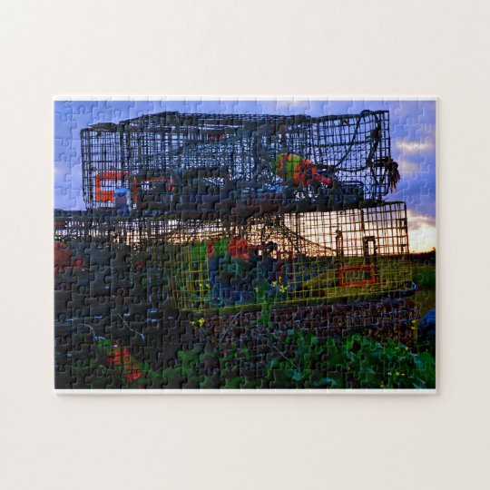 Colourful Lobster Traps Jigsaw Puzzle