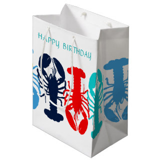 Colourful Lobsters Happy Birthday Gift Bag