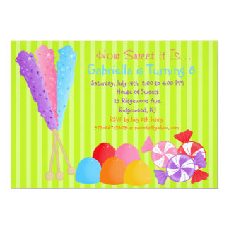Colourful Lots of Candy Kids Birthday Invitation
