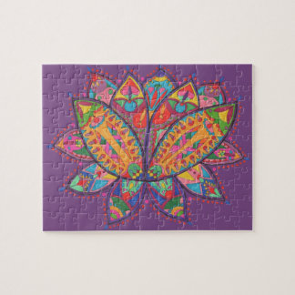 Colourful lotus flower jigsaw puzzle