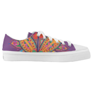 Colourful lotus flower Low-Top sneakers