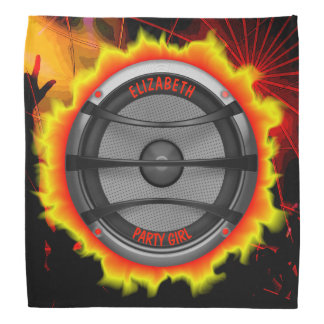 Colourful Loud Music Speaker Dancing Party Bandana