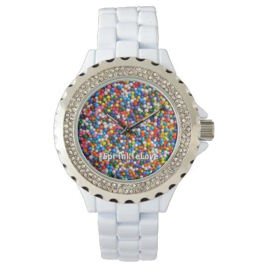 Colourful Love Sprinkles & Sparkles Custom Hashtag Watch