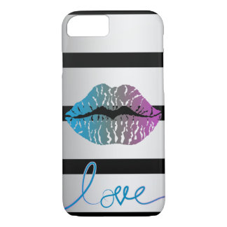 Colourful love your phone lips! iPhone 8/7 case