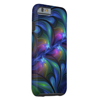 Colourful Luminous Abstract Blue Pink Green Tough iPhone 6 Case