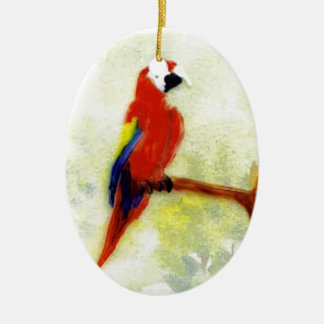 Colourful Macaw Bird Ceramic Ornament