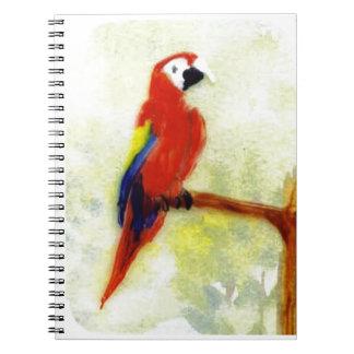 Colourful Macaw Bird Notebooks