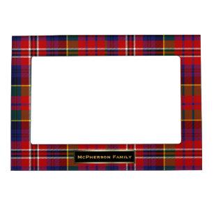 Colourful MacPherson Family Tartan Plaid Custom Magnetic Frame