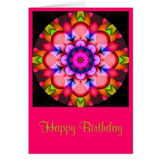 Colourful Mandala Birthday card