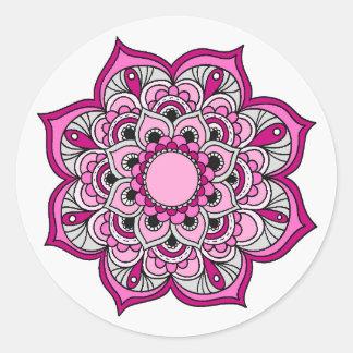 Colourful Mandala Design Classic Round Sticker