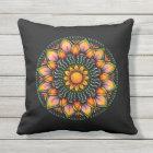 Colourful Mandala Design Outdoor Pillow