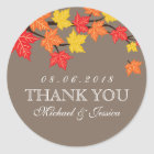 Colourful Maple Leaf Fall Autumn Wedding Sticker