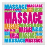 Colourful Massage Poster