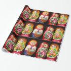 Colourful Matryoshka Dolls Wrapping Paper