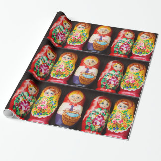 Colourful Matryoshka Dolls Wrapping Paper
