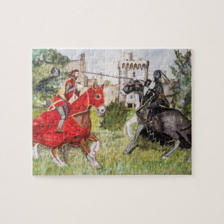 Colourful Medieval Joust Jigsaw Puzzle