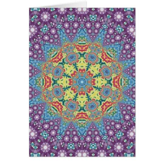 Colourful Meditation Mandala Card