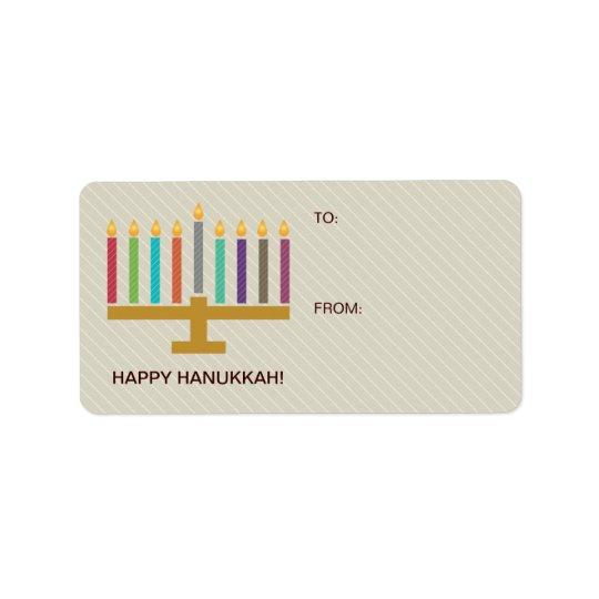 Colourful Menorah Hanukkah Gift