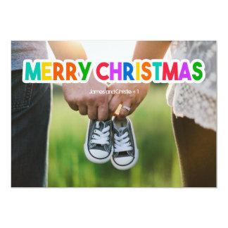 Colourful Merry Christmas Photo Card