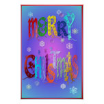 Colourful Merry Christmas Poster-large