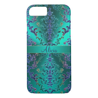 Colourful metallic Damask iPhone 7 Case
