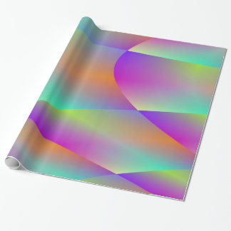 Colourful Metallic Fractal Wrapping Paper
