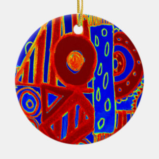 Colourful modern flurescent designed products ceramic ornament