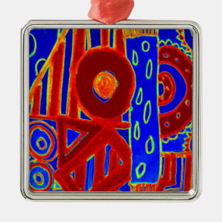 Colourful modern flurescent designed products metal ornament