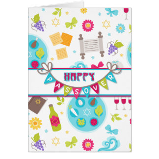 Colourful Modern Passover Greeting Card