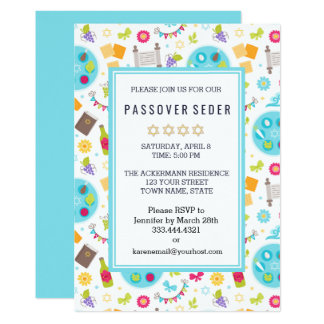Colourful Modern Passover Sedar Invitations