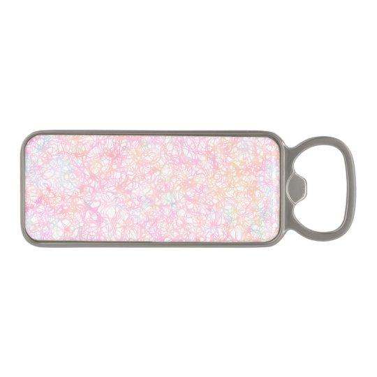 Colourful Modern Strings - Pearl Pastel Magnetic Bottle Opener