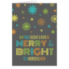 Colourful Mom Merry & Bright Christmas Card