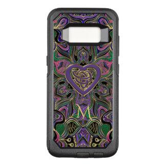Colourful Monogram Celtic Heart Knot Mandala OtterBox Commuter Samsung Galaxy S8 Case