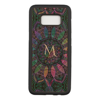 Colourful Monogram Mandala Wood Galaxy S8 Case