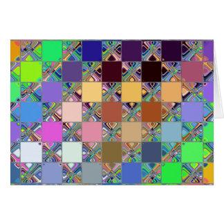 Colourful Mosaic Tiles Card