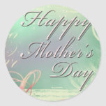 Colourful Mother's Day Round Stickers