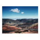 Colourful Mountain Valleys Around Salt Flats Postcard