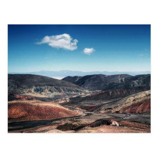 Colourful Mountain Valleys Around Salt Flats Postcard