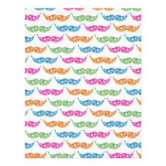 colourful moustache circles pattern image custom letterhead