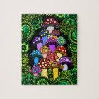 Colourful Mushrooms Jigsaw Puzzle