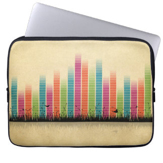 Colourful Music Beats In Nature Laptop Sleeve