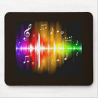 Colourful Music Notes Mouse Pad