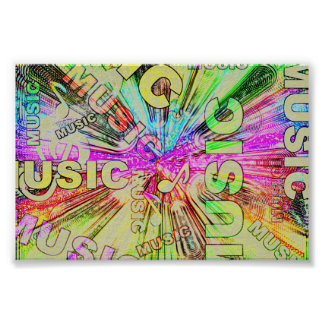 Colourful Music Notes Poster
