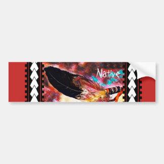 Colourful Native American Eagle Feather Bumper Sticker