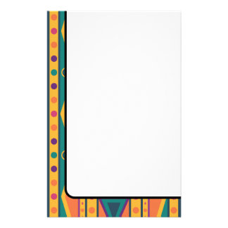 Colourful Native American Style Pattern Stationery
